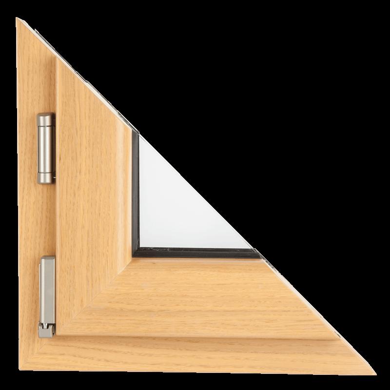 Drvo aluminijum prozori - profil Klasik hrast 1