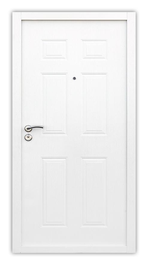 Sigurnosna vrata - model Tal, boja bela, pogled sa spoljne strane