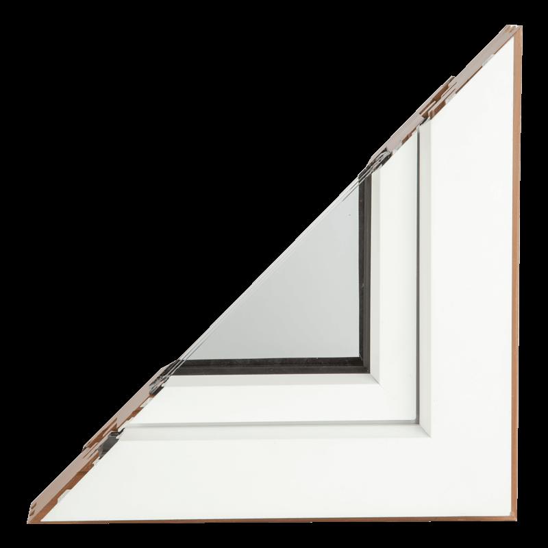 Drvo aluminijum prozori - profil premijum - bela boja