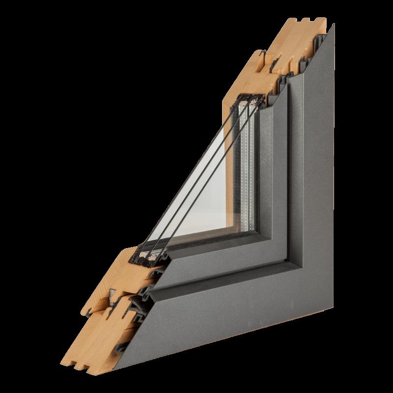 Drvo aluminijum prozori - profil premijum hrast